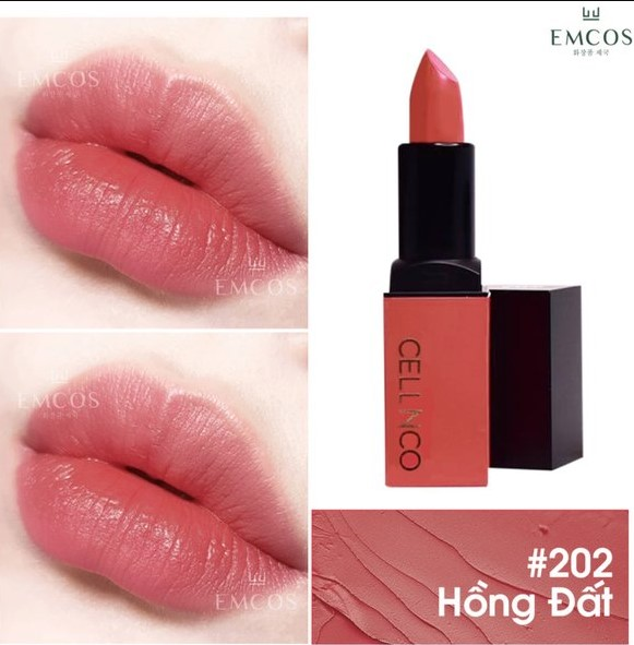son cellnco 204, son cellnco 205, cellnco son kem, son môi cellnco, bảng màu son lipstick, bảng màu son cellnco, son cellnco bảng màu, son cellnco 203