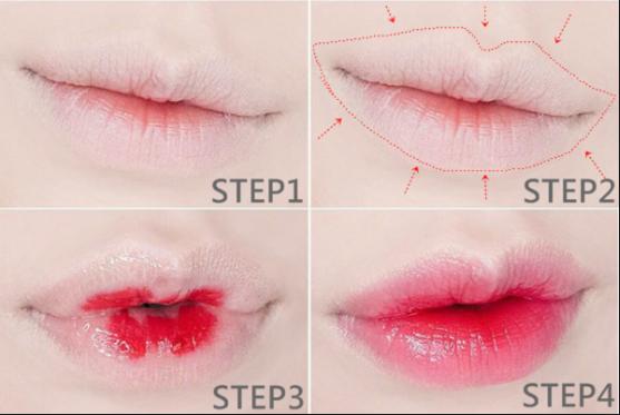 cách đánh son lòng môi bằng son nước