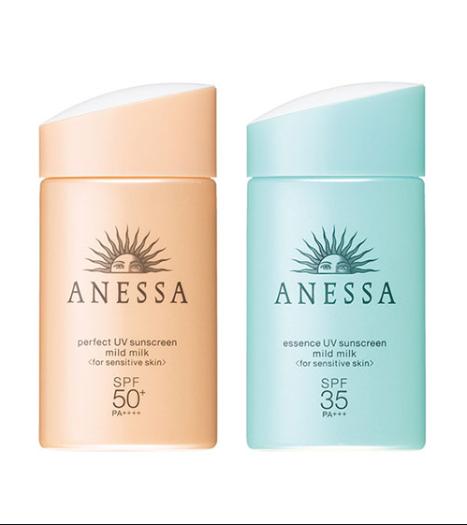 Review kem chống nắng Anessa cho da nhạy cảm