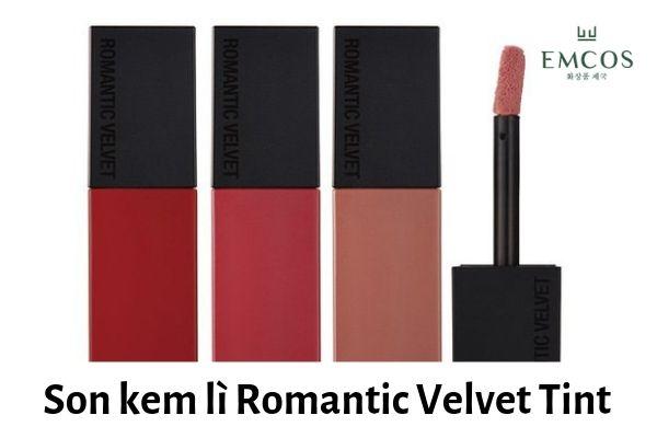 son romantic velvet tint, romantic velvet tint, son romantic velvet, romantic velvet, son kem lì romantic velvet tint, son romantic