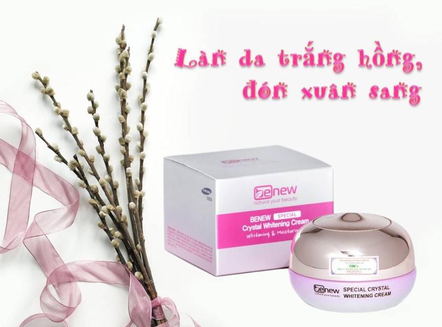 Kem dưỡng trắng da cao cấp Benew Special Crystal Whitening Cream có tốt không? Review thành phần, công dụng, giá