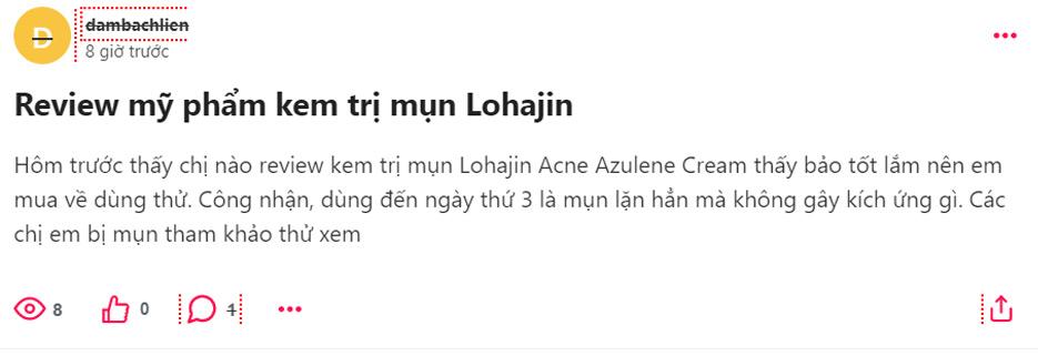 review kem trị mụn lohajin, kem trị mụn lohajin review, review kem trị mụn lohajin acne azulene cream, kem trị mụn lohajin có tốt không, review trị mụn lohajin, lohajin trị mụn review, lohajin acne cream review, lohajin trị mụn review, lohajin azulene acne cream review