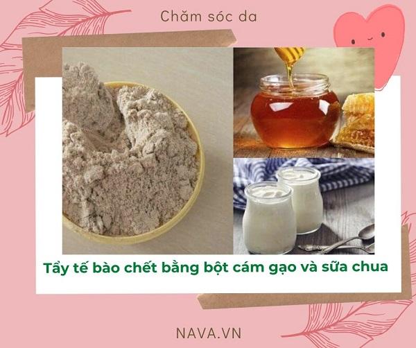 tẩy tế bào chết bằng bột cám gạo, tẩy tế bào chết với bột cám gạo, cách tẩy tế bào chết bằng bột cám gạo, tẩy tế bào chết body bằng bột cám gạo, Tẩy tế bào chết Body bằng cám gạo