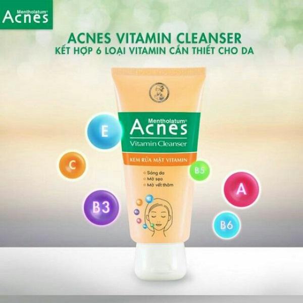 Nghe cô nàng mê làm đẹp review sữa rửa mặt acnes vitamin cleanser có tốt không nhé